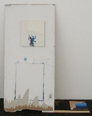 """Excavation (Studio Wall), 2006, mixed media work by Jacob Melchi"